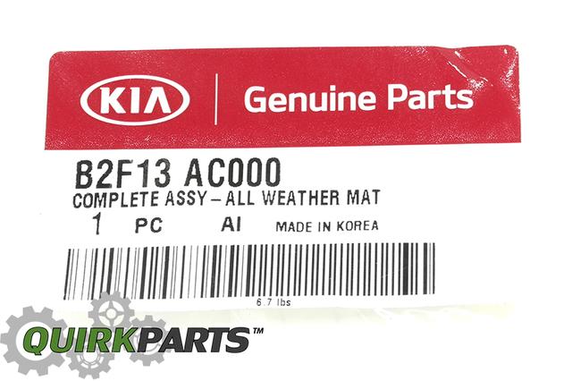 2014 Kia Soul All Weather Floor Mats OEM BRAND NEW Genuine Part # B2F13-AC000