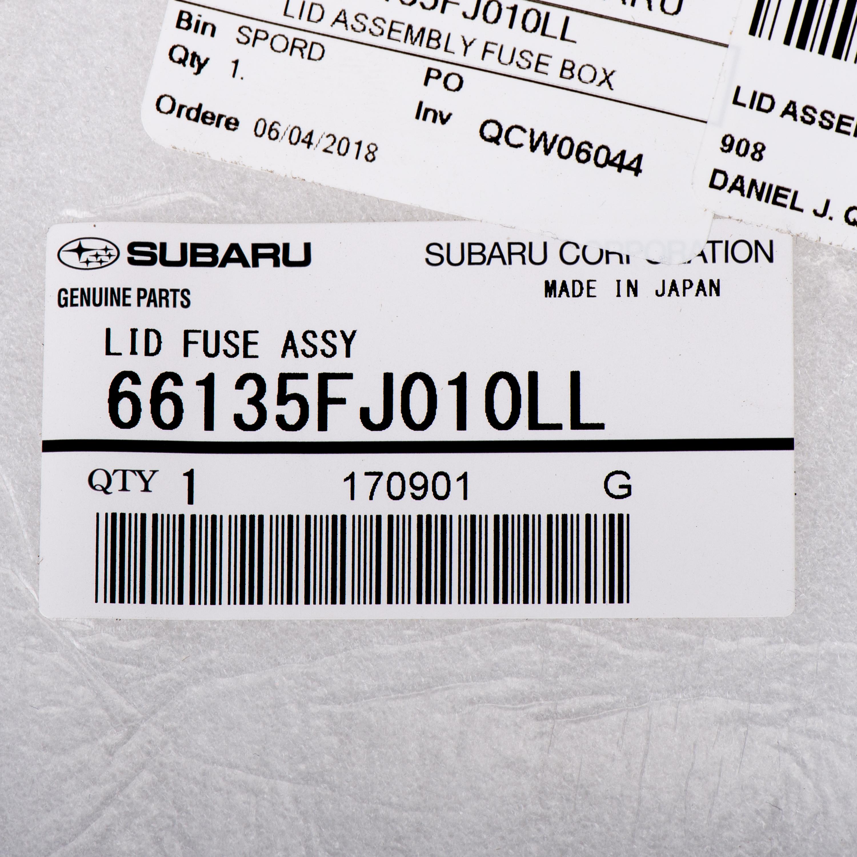 Fuse Box Door Subaru 66135fj010ll Quirk Parts Lid