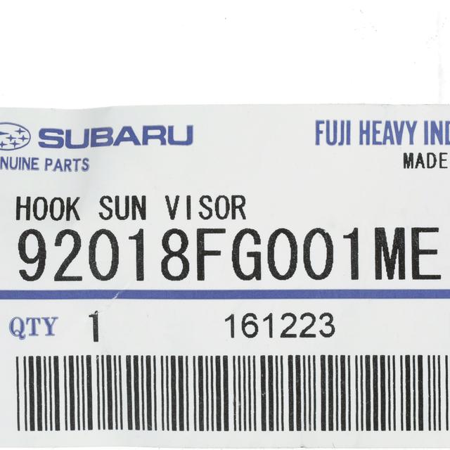 NEW 08-17 Subaru Sunvisor Hook Clip Crosstrek Impreza Outback OEM 92018FG001ME