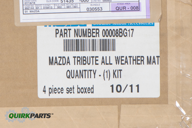 2006-2010 Mazda Tribute Floor Mats All Weather Black Rubber OEM NEW