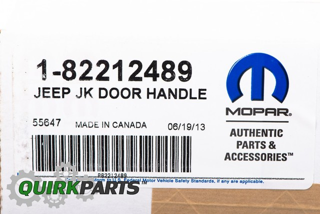 2007-2015 Jeep Wrangler 2 Door Chrome Door Handle Inserts MOPAR GENUINE OEM NEW
