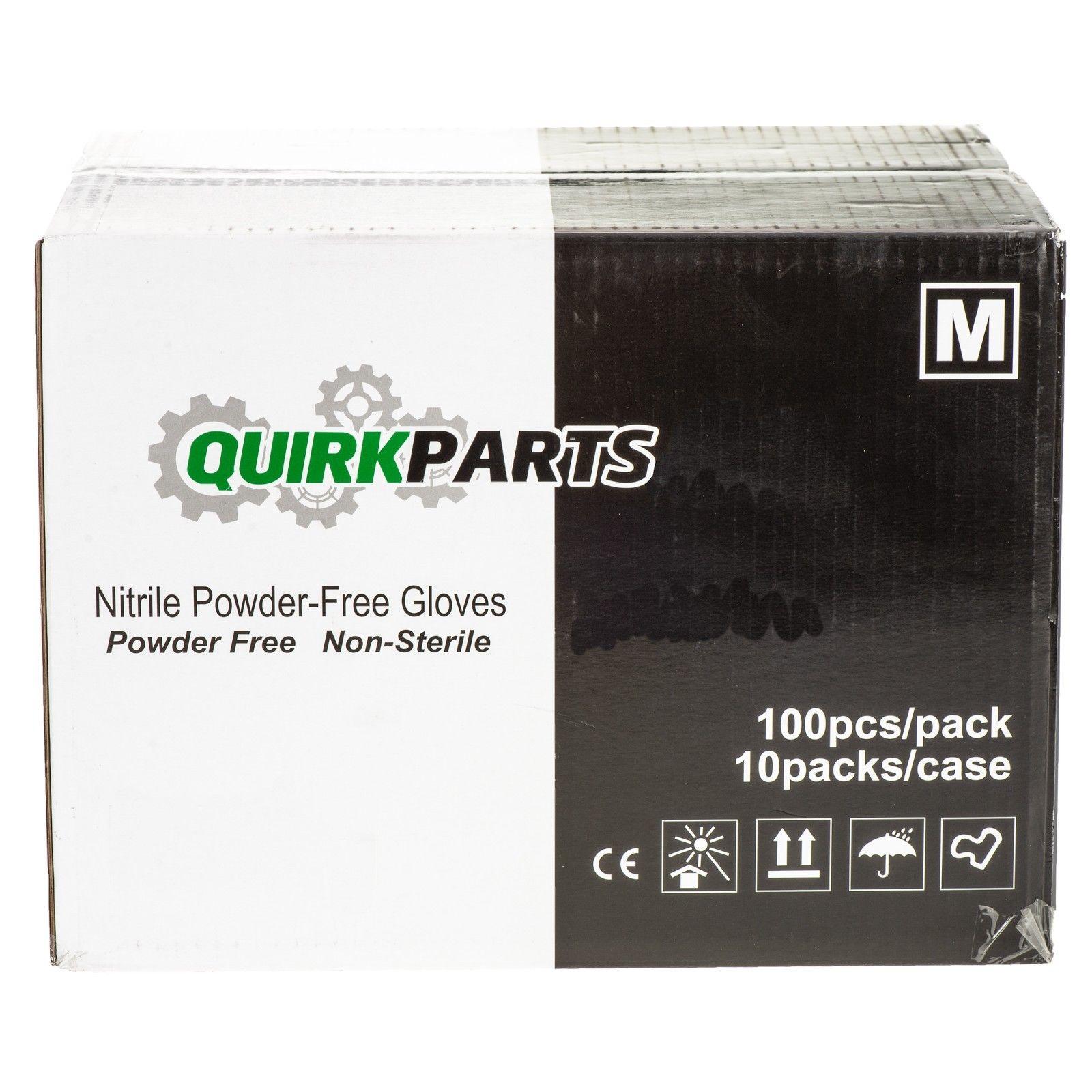 NEW Case Of 1000 Blue Nitrile Powder Free Disposable Non-Sterile Medium Gloves