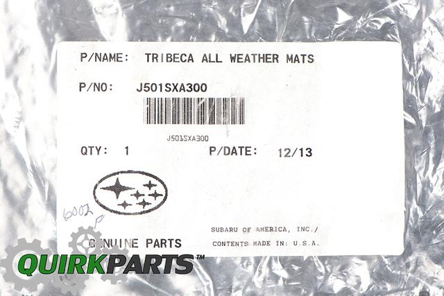 2006-2014 Subaru Tribeca 3rd Row All Weather Rubber Floor Mat OEM NEW Genuine
