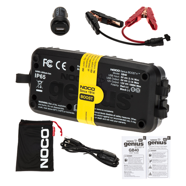 NOCO Genius Boost GB40 HD 1000 Amp 12V UltraSafe Lithium Jump Starter 19366935