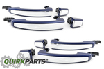 2012-2013 Chevrolet Sonic Blue Metallic Door Handles GENUINE OEM BRAND NEW