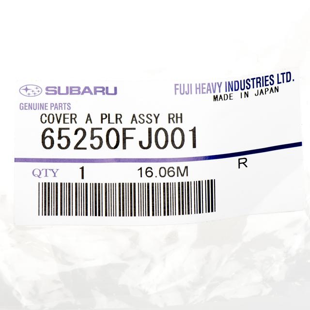 OEM 2013-2017 Subaru Crosstrek Front Right Door Corner Trim Cover NEW 65250FJ001