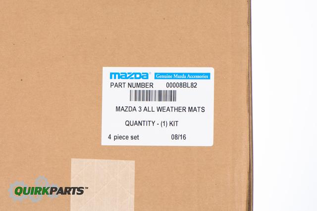 2014 Mazda3 Premium All Weather Floor Mats OEM BRAND NEW Genuine 0000-8B-L82