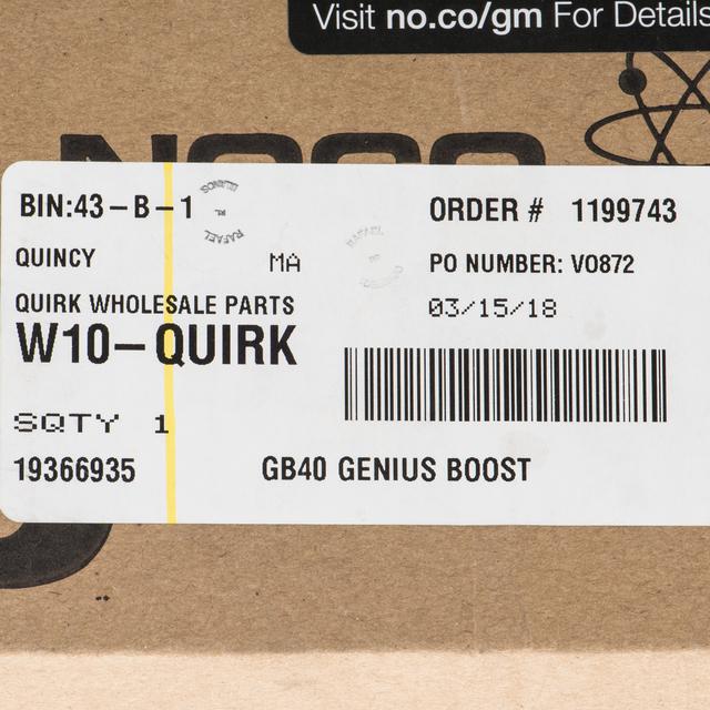 NOCO Genius Boost GB40 HD 1000 Amp 12V UltraSafe Lithium Jump Starter 19366935