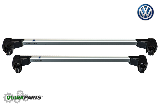 2018-2019 VW Volkswagen Tiguan Roof Rack Base Carrier Cross Bars OEM NEW
