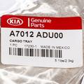 2014 Kia Forte Rubber ALL-WEATHER Cargo Area Tray Genuine OEM BRAND NEW
