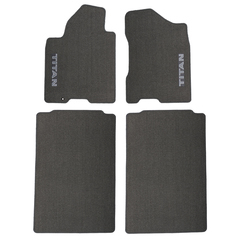 2004-2007 Nissan Titan Crew Cab Gray Carpeted Floor Mats Front & Rear OEM NEW