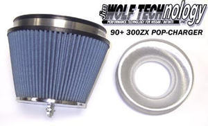 Jim Wolf Technology POP-Charger Air Filter - 1990-19996 300ZX (TT & NA)