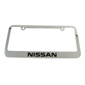 NISSAN CHROME LICENSE PLATE FRAME KIT