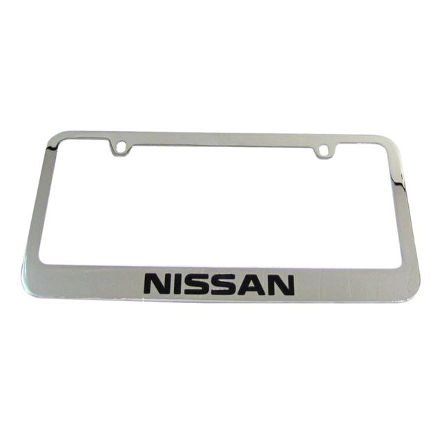 NISSAN CHROME LICENSE PLATE FRAME KIT (67224) | Courtesy Parts