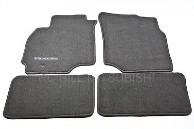 FREE SHIPPING!  Black Lancer Carpet Floor Mats, set of 4
