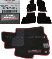Last Set! FINAL EDITION LANCER EVOLUTION EVO X FLOOR MATS SET GENUINE MITSUBISHI OEM FACTORY ORIGINAL