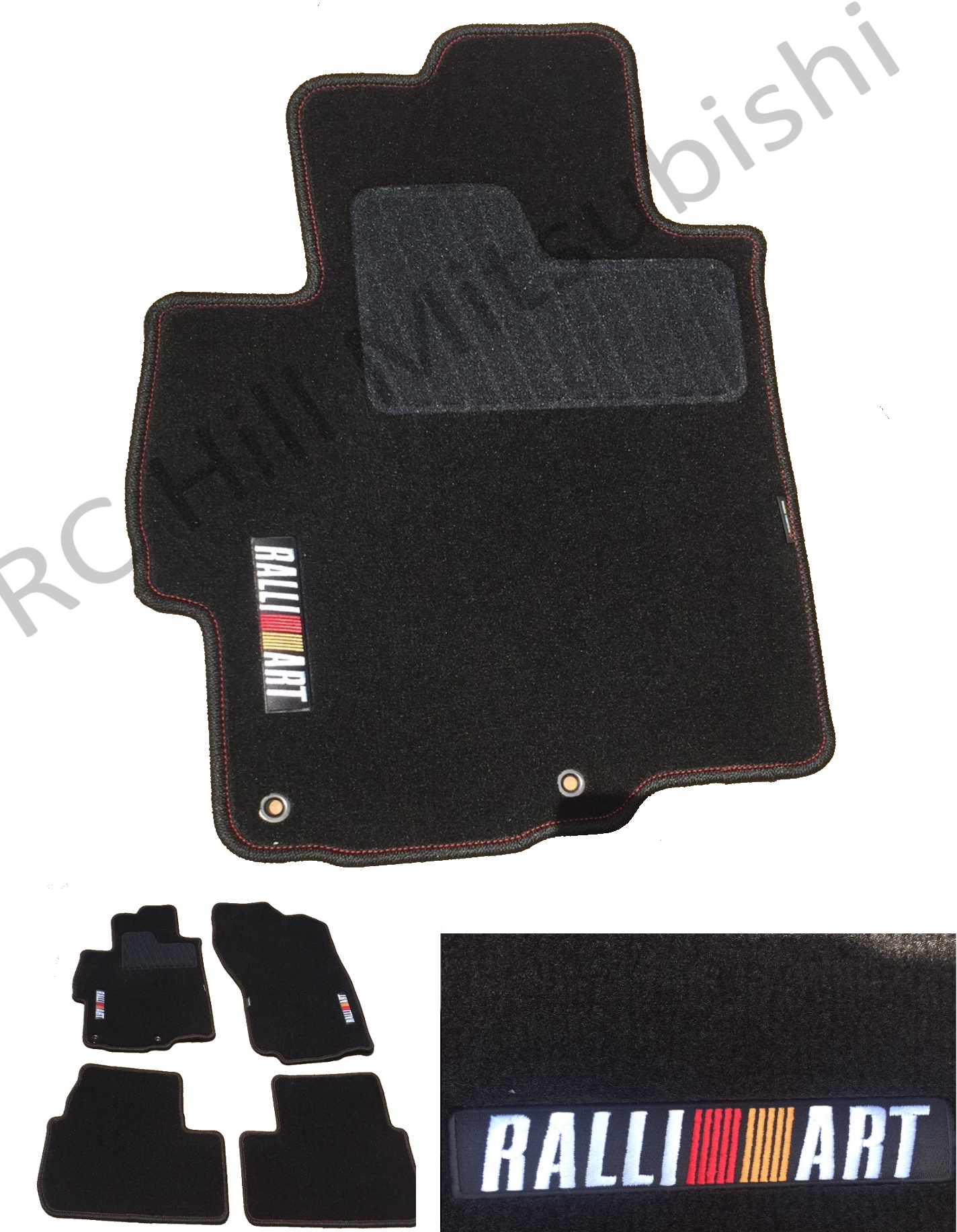 Free Shipping Ralliart Lancer Floor Mats, Carpet