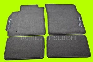 BLACK EVO EVOLUTION VIII Floor Mats, Carpet, left hand drive
