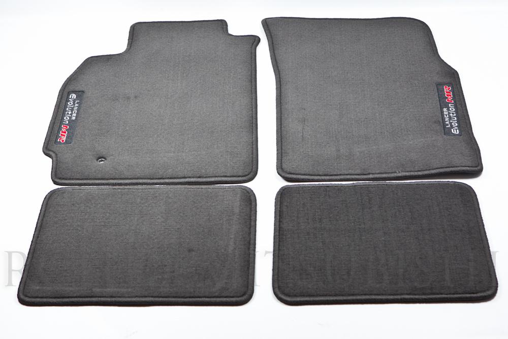 Genuine Mitsubishi Evolution  EVO MR  Black Carpet Floor Mats