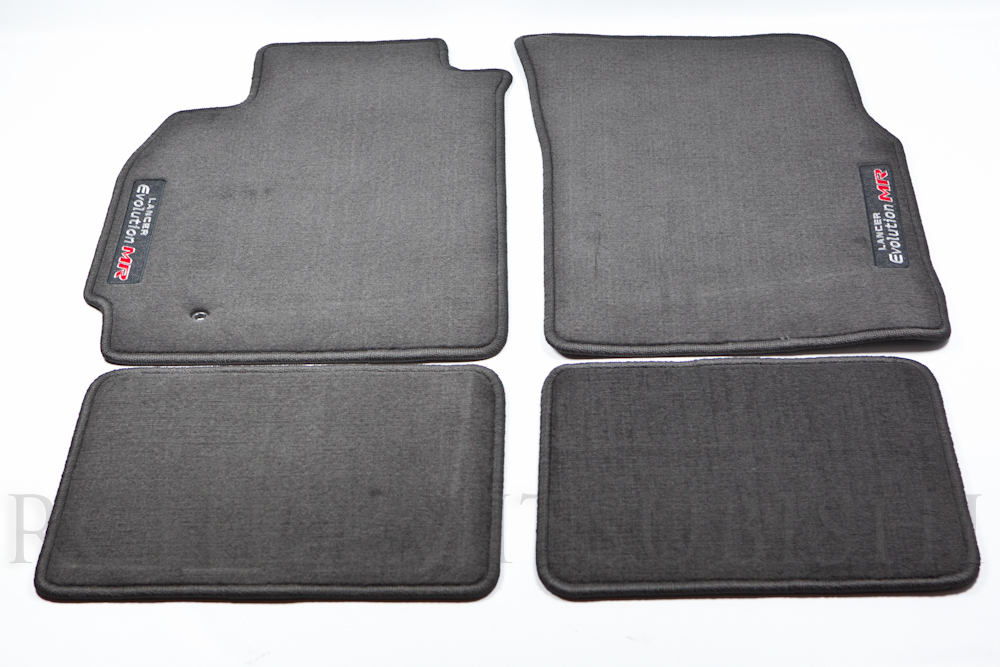 Genuine Mitsubishi Evolution  EVO MR  Black Carpet Floor Mats