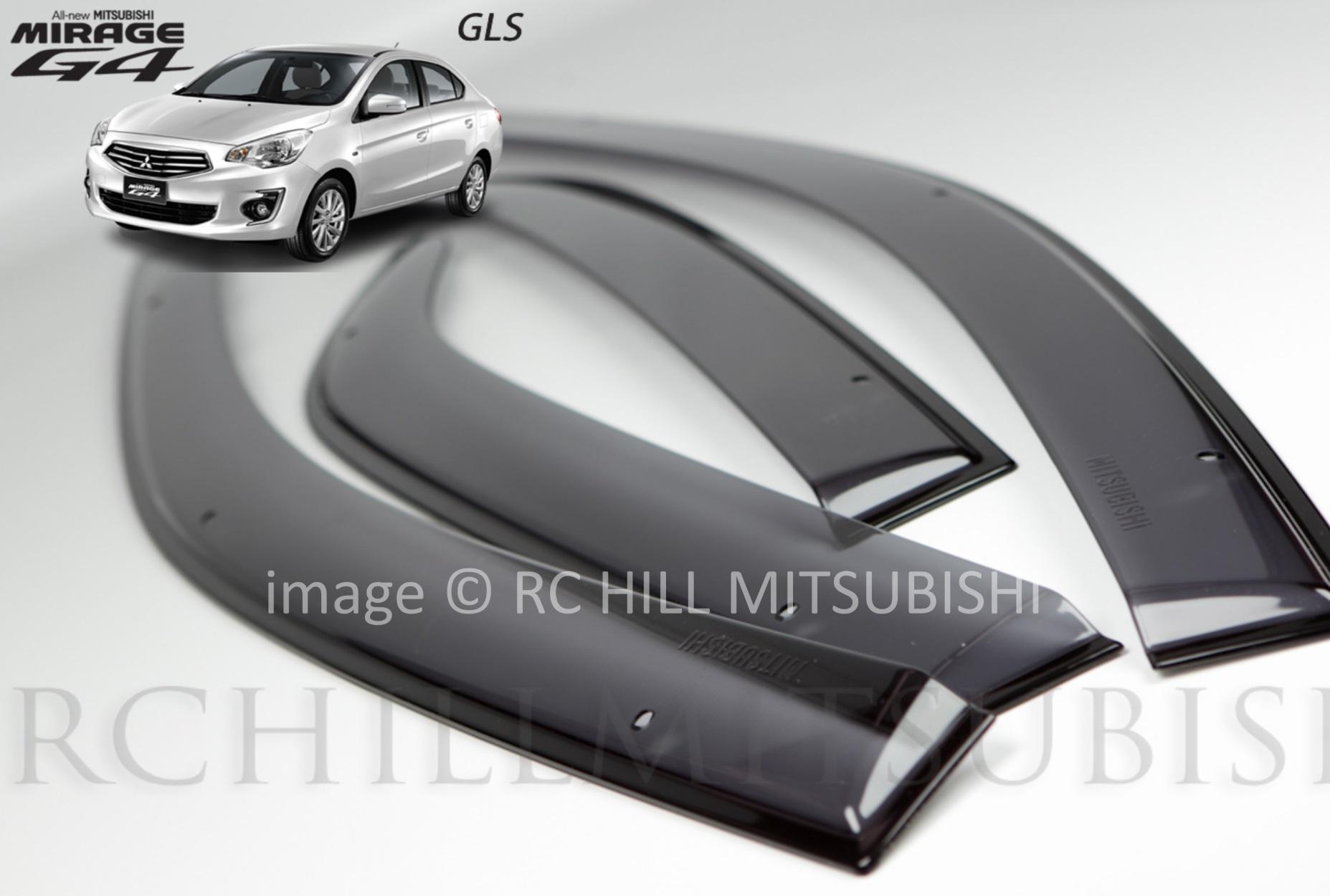 FREE SHIPPING Genuine Mitsubishi Mirage G4 Sedan Side Window Deflectors