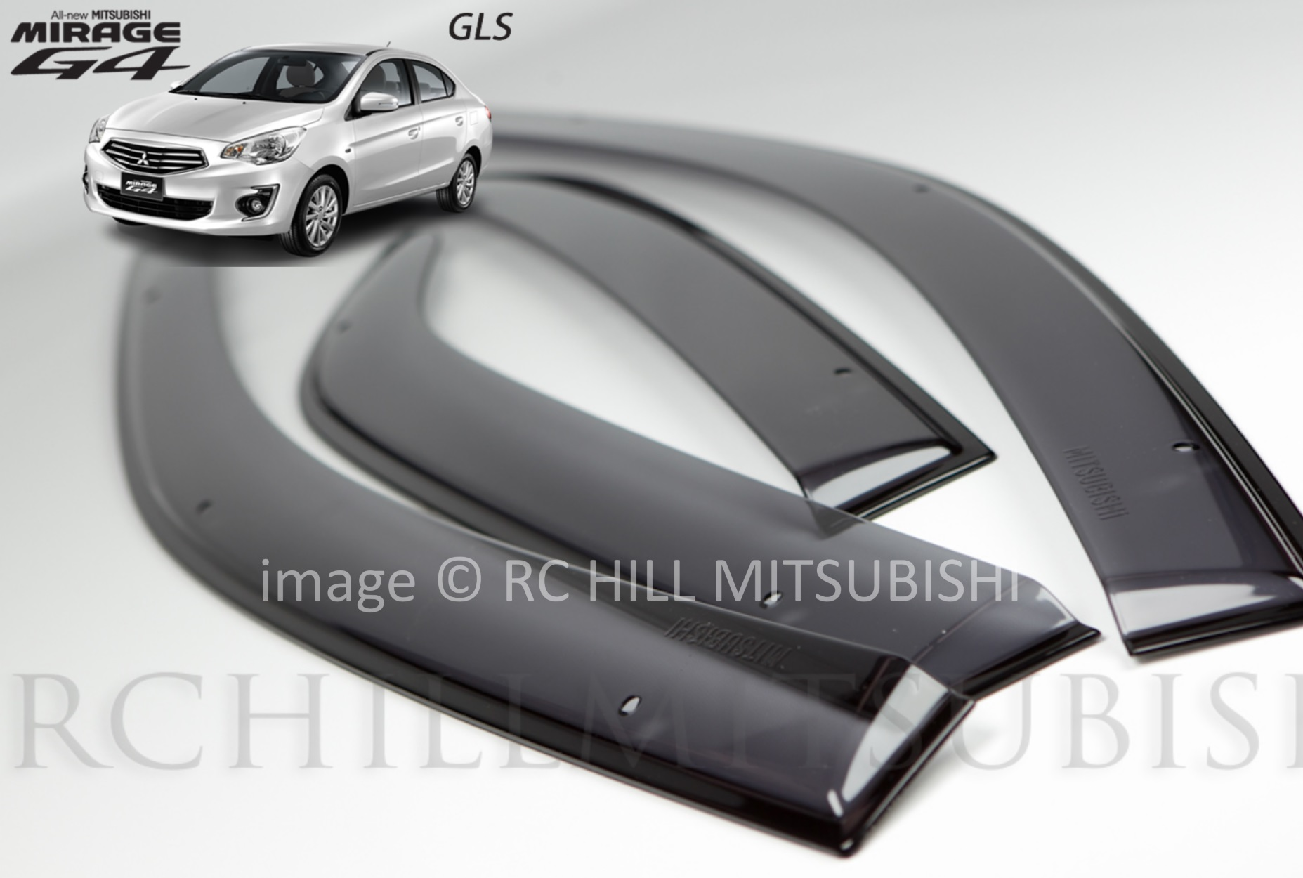 FREE SHIPPING Genuine Mitsubishi Mirage G4 Sedan Side Window Deflectors