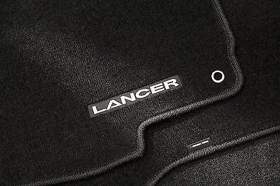 FREE SHIPPING!  Black Lancer Carpet Floor Mats, set of 4