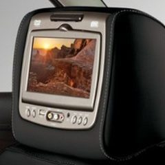 NEW Acadia Rear-Seat Entertainment System with DVD Player in Jet Black Leather Shale Stitching
