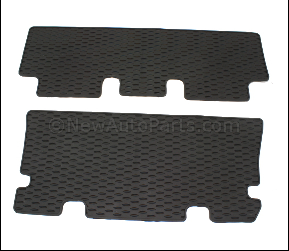 Floor Mats, Rear, All-Weather