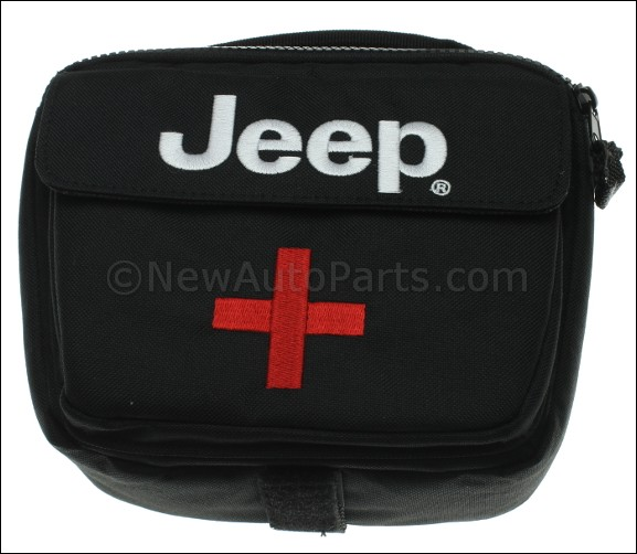 first aid kit - jeep logo bag - mopar (82213730ab) | newautoparts