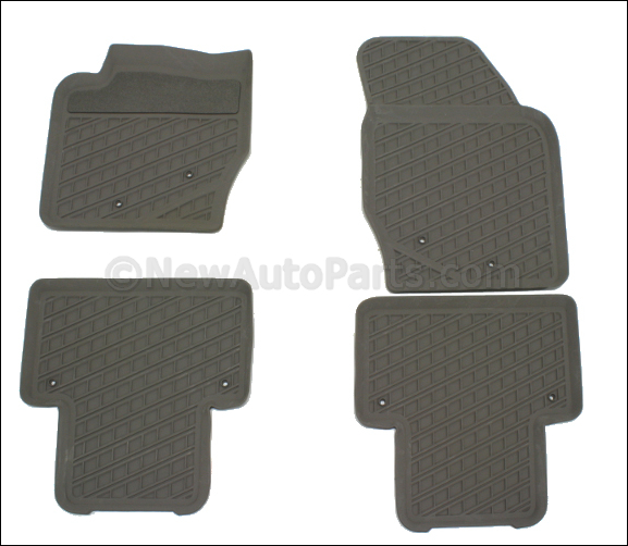 Floor Mats, Rubber Bowl Shaped, 5 & 7-Seater