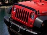 Front Air Deflector - Tinted- With Jeep Logo