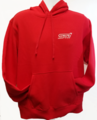 Hoody , Heavyweight Red with STI Logo