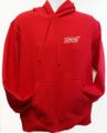 Hoody , Heavyweight Red with STI Logo