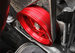 CRANK PULLEY  LIGHT WEIGHT RED [ ALL EJ MOTOR CARS ]