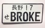 PLATE BROKE