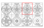 Alloy Wheel, Seventeen Inch, Silver Color  [ size 17 x 7.5 J OFF 55 ] 28111C [LEGACY]