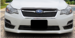 Front License Plate Mount 2017 Impreza
