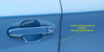 DOOR EDGE GUARD KIT  CARBIDE GRAY / IMPREZA