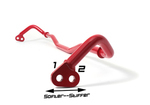 FRONT SWAY BAR RED/19MM [ BRZ ]