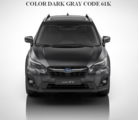 Molding Body Side, Dark Gray Metallic  [ 2017 Impreza or 2018 XV Cross Trek ] CODE 61K