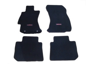 Carpeted Floor Mats Set - Wrx [2015-2018] Red/Red