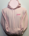 Hoody, Heavyweight  Pink with STI