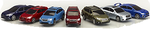 Subaru Diecast Car Collection (All 7 Models)