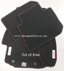 Carpet Floor Mats Set (Sti) 2015-2018 Red Stitch /Red Logo