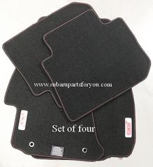 Carpet Floor Mats Set (Sti) 2015-2018 Red Stitch /Red Logo