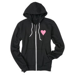 Ladies Hooded Love Zip
