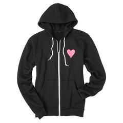 Ladies Hooded Love Zip