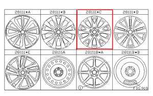Alloy Wheel, Seventeen Inch, Silver Color  [ size 17 x 7.5 J OFF 55 ] 28111C