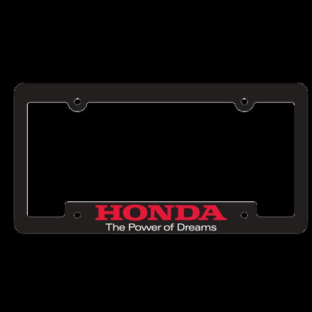 Honda Power of Dreams plate frame